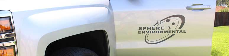 silver truck with sphere 3 logo